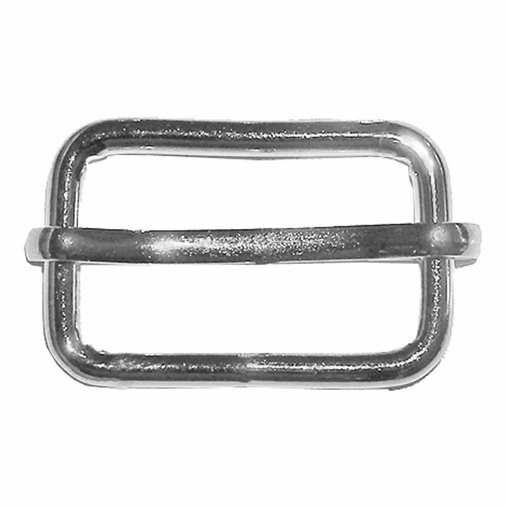 Elan Rectangle Silver Buckle  26 mm/1 - 2/package