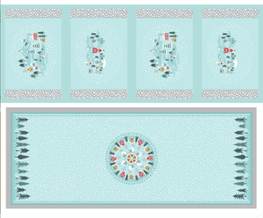 Hygge Christmas Tablerunner and Placemat C40.3