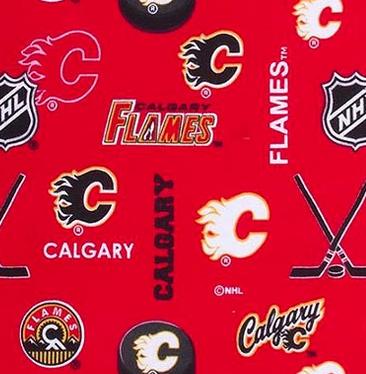 NHL- Calgary Flames FLANNEL (21B)