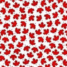 Canadianisms Maple Leaf  - Fat Quarter