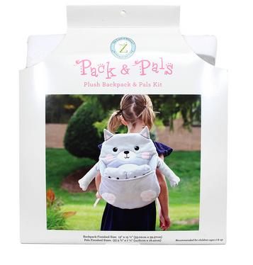 PACK & PAL Plush Backpack & Pals Kit - Cat