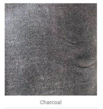 .50 meter Waxed Canvas- Charcoal