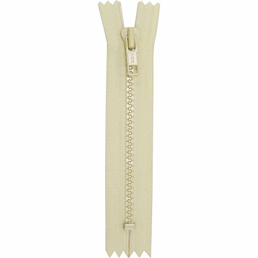 Closed End Cream Activewear Zipper - 18cm/7