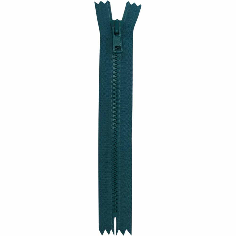 Closed End Teal Activewear Zipper - 18cm/7