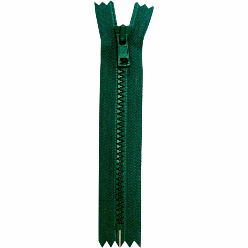 Closed End Dark Green Activewear Zipper - 18cm/7