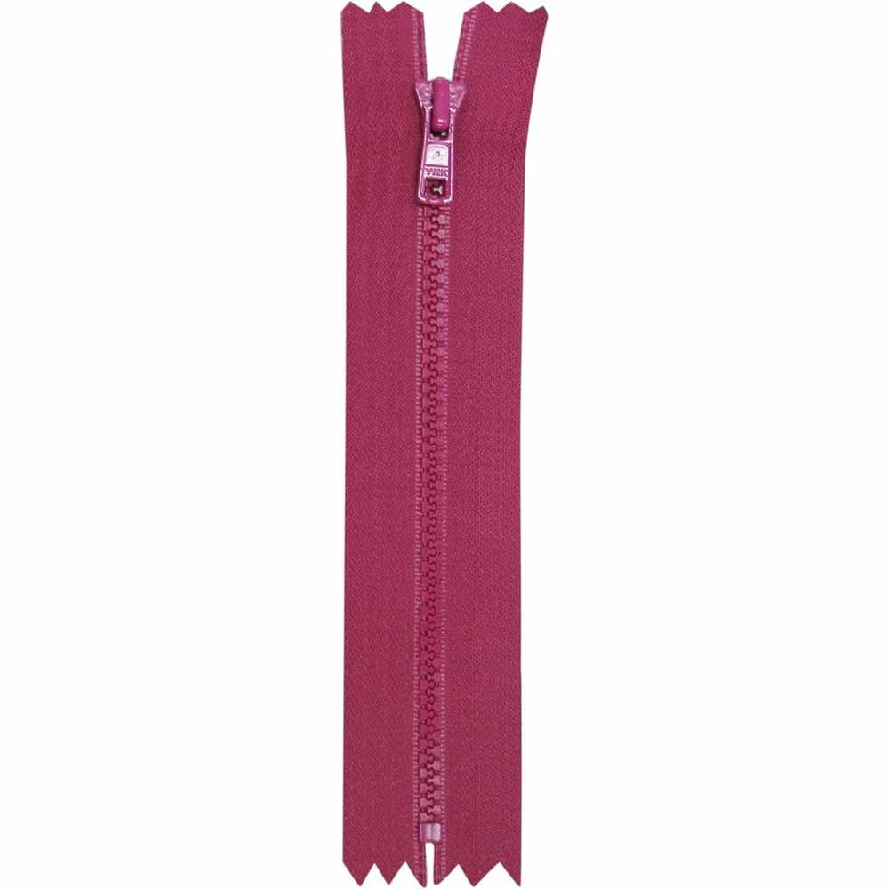 Closed End Magenta Activewear Zipper - 18cm/7