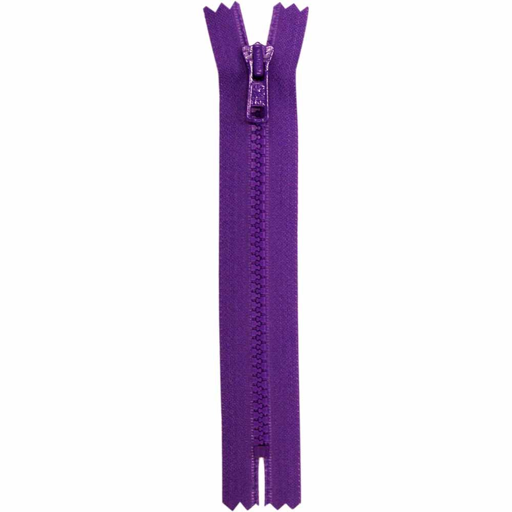Closed End Purple Activewear Zipper - 18cm/7