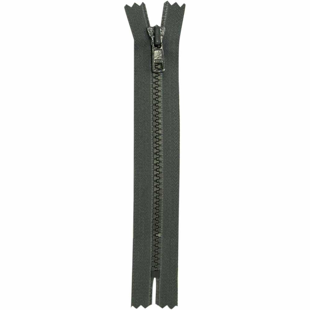Closed End Rail (Gray) Activewear Zipper - 18cm/7