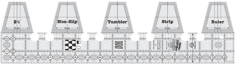 creative grids non-slip tumbler single strip ruler
