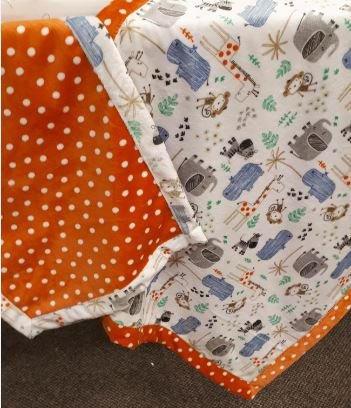Roll-Over Cuddle Cloth Baby Blanket