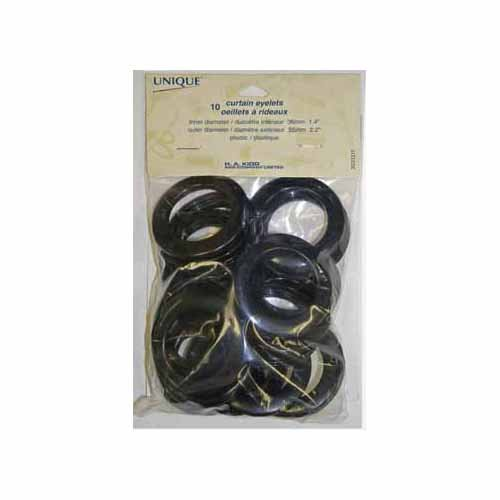 Curtain Eyelets - 36mm (13?8) - Black - 10pcs.