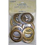 10 Curtain Eyelets - Brass