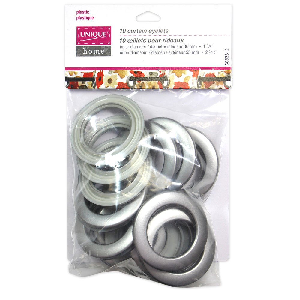 10 Curtain Eyelets Granite - 55mm