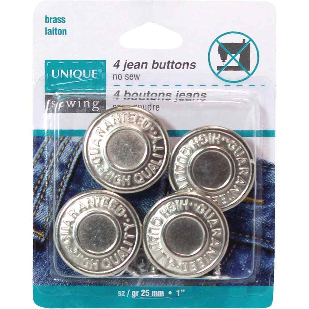 Jean Buttons 25mm silver