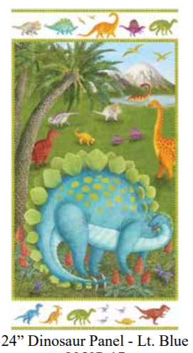 Dino Party Quilt Panel