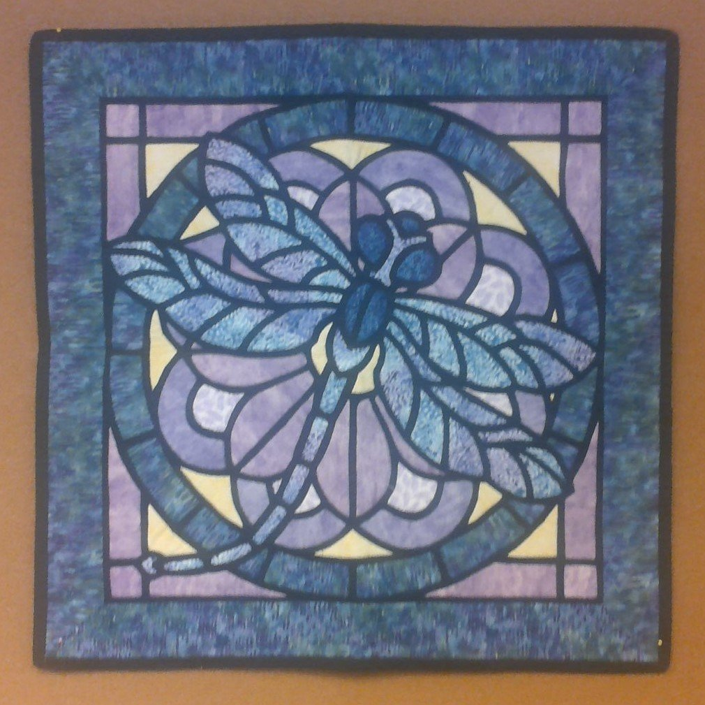 Dragonfly Stained Glass Window Wallhanging