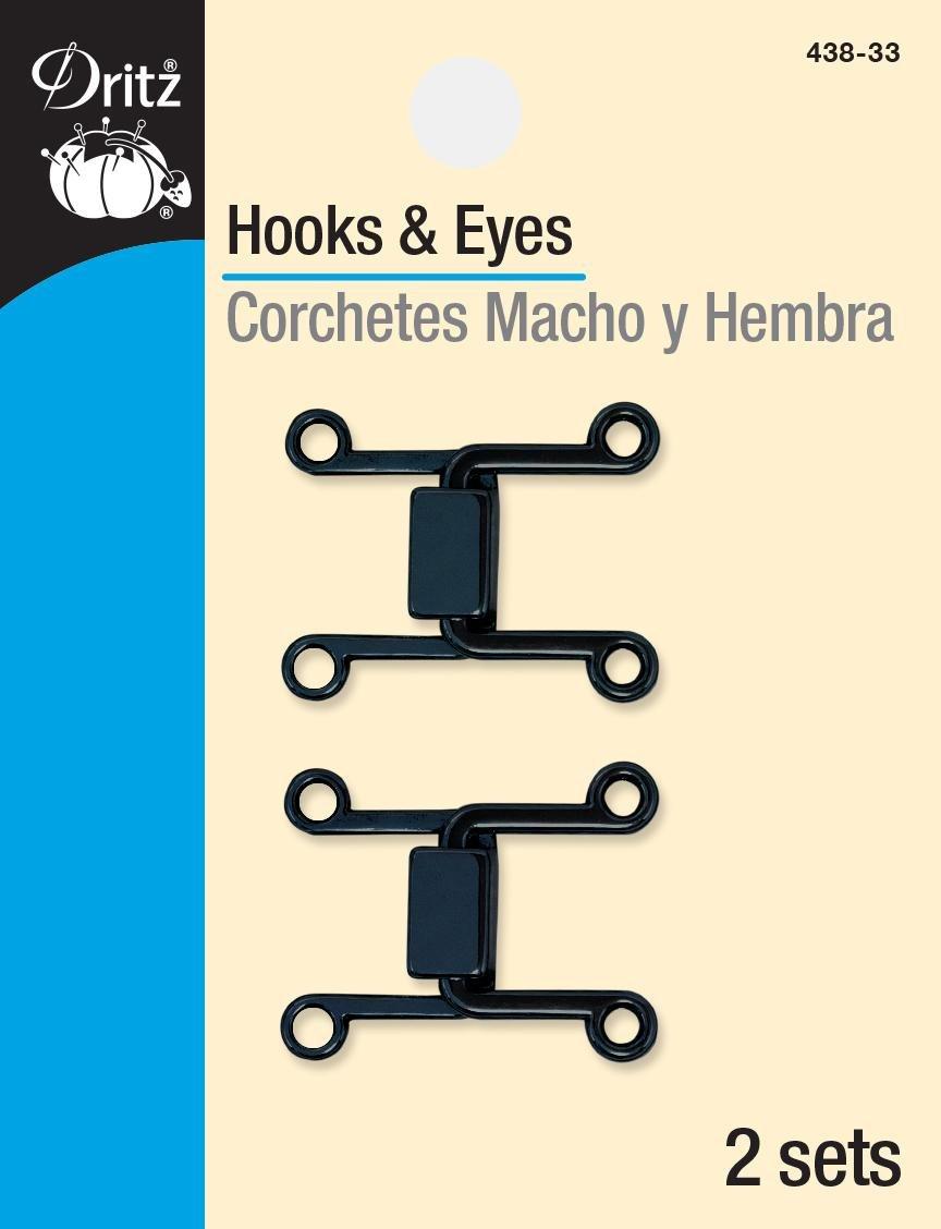 hooks & eyes rect. gunn metal