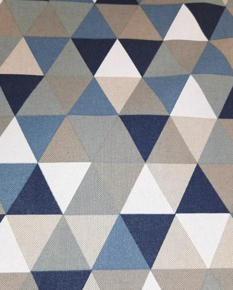 1796.460 Linen Look Geometric in Blue, Green & Taupe (21B)