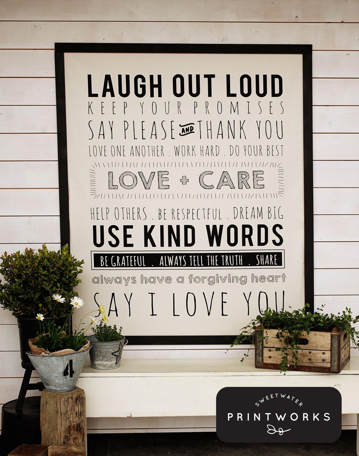 5761P-11 Use Kind Words Panel