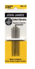 John James Cotton Darners Needles Sizes 1/5 10ct