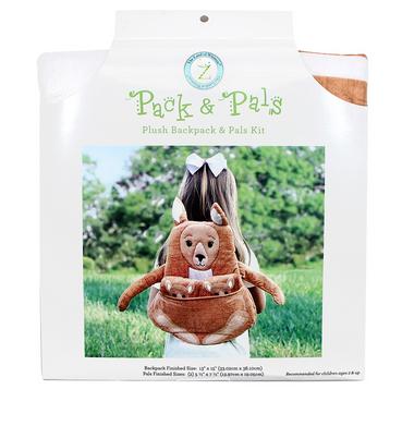 PACK & PAL Plush Backpack & Pals Kit - Kangaroo