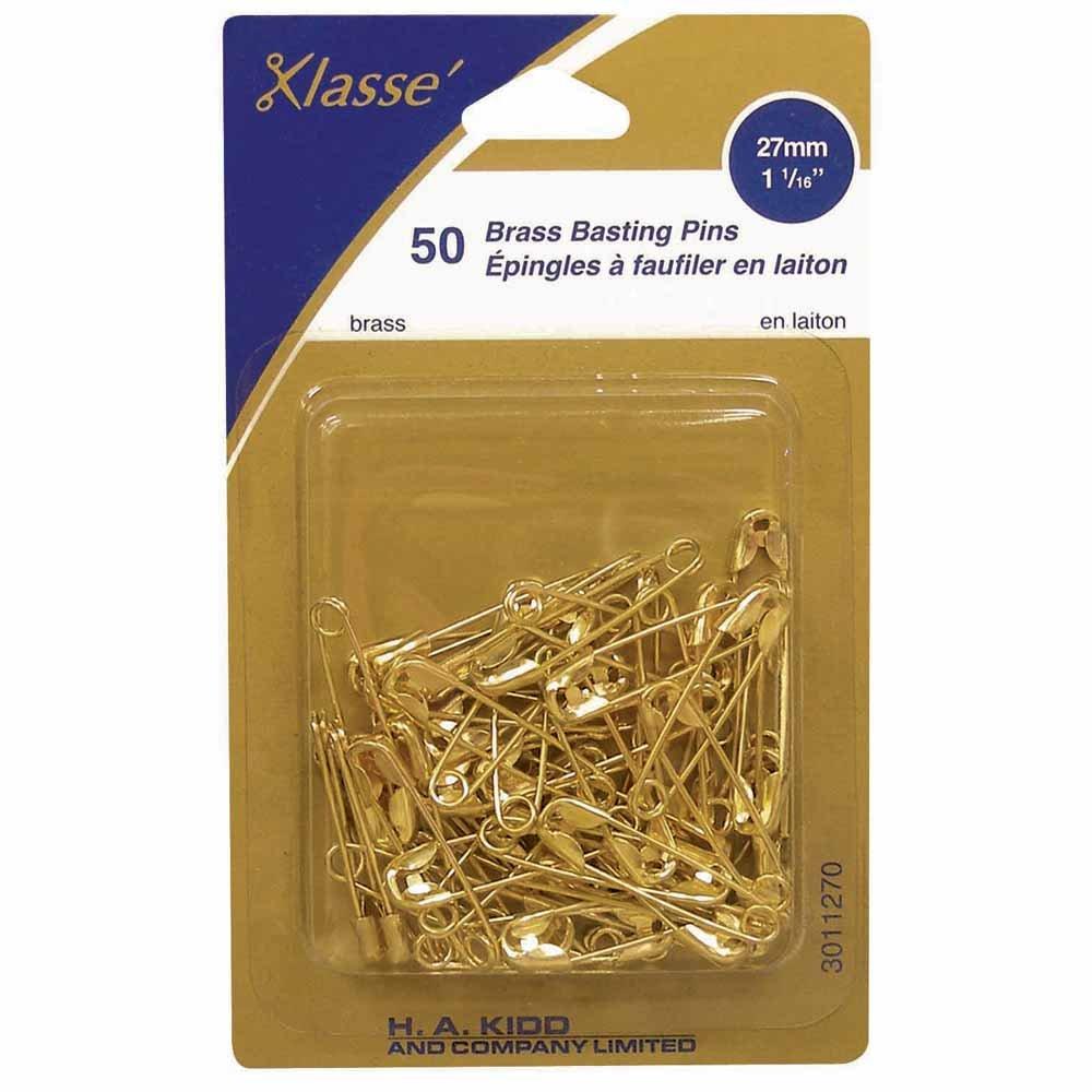 50 Brass Basting Pins 1 1/16