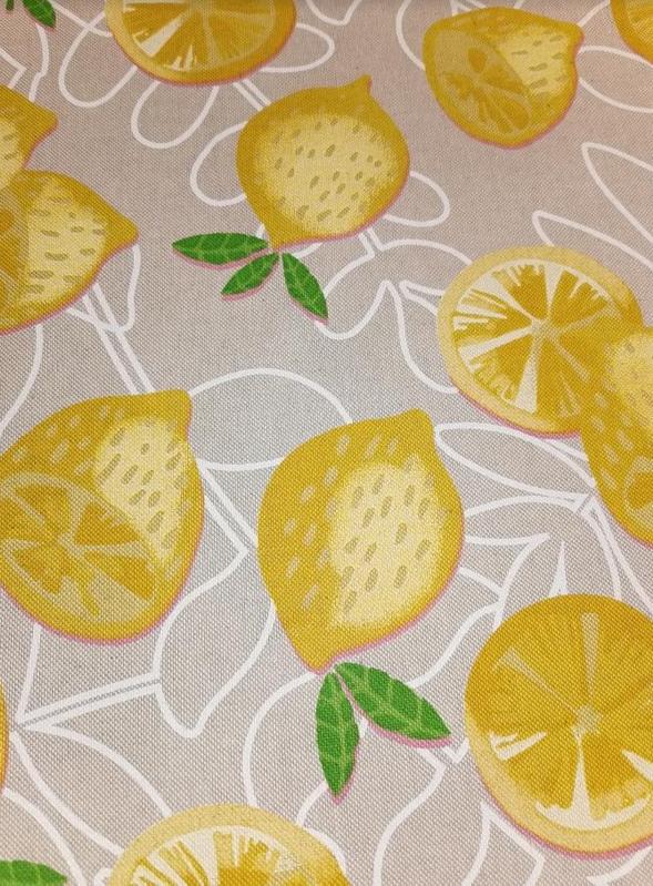 1846.230 Linen Look Lemons on Taupe