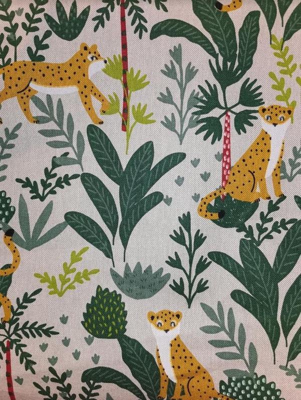 1823.525 Linen Look Leopard in Jungle Canvas (21B)