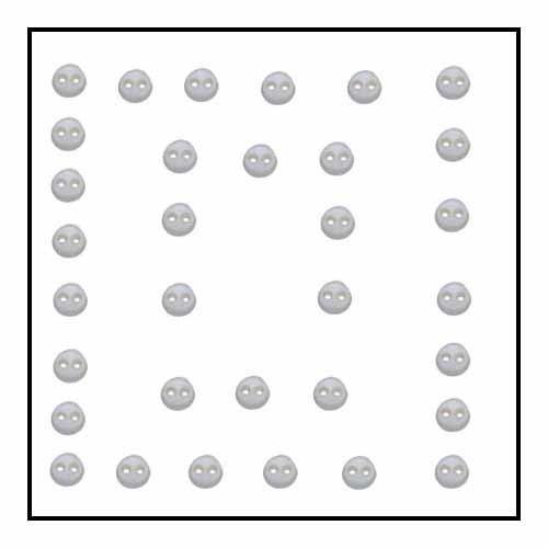 Micro Mini Round White