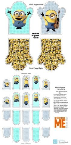 Minions Finger Puppet Panel