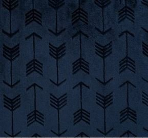 Navy Embossed Arrow Cuddle Cloth