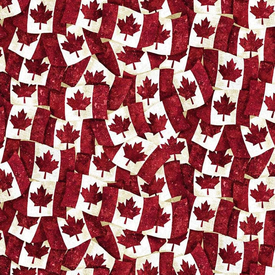 Oh Canada Overlapping Maple Leaf