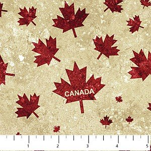 Oh Canada Scattered Maple Leaf