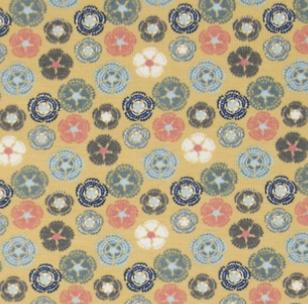 OR4508-183 Organic Knit Dusty Yellow Flowers (21B)