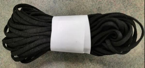 10 meters Black- Soft Ear Elastic