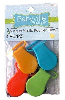 Boutique Plastic Pacifier Clips - Neutral