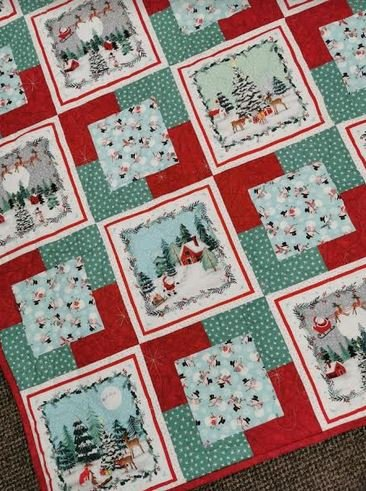Peace and Goodwill Christmas Quilt Kit