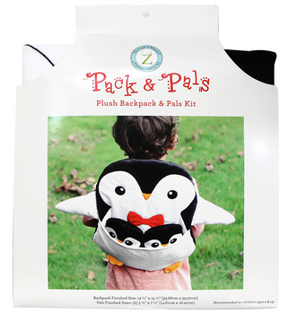 PACK & PAL Plush Backpack & Pals Kit - Penguin