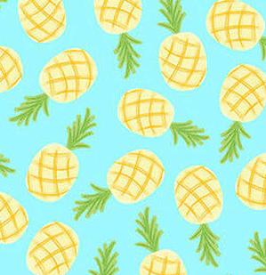 1273-11 White Let's Flamingle- Pineapple (21B)