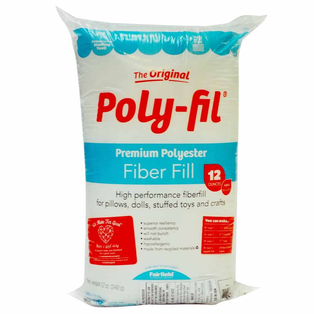 poly-fil stuffing 12 oz - recycled material
