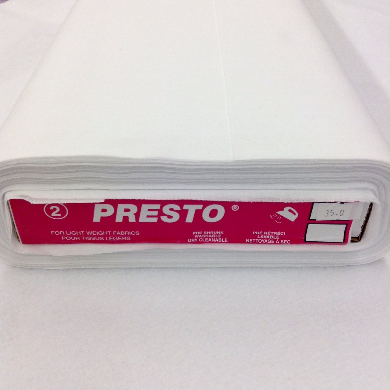 Presto White Interfacing