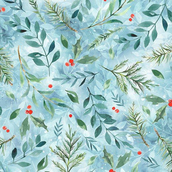 24744-492 Woodland Winter Digital Print- Breeze (20G)