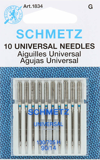 SCHMETZ #1834 Universal Needles Carded - 90/14 - 10 count
