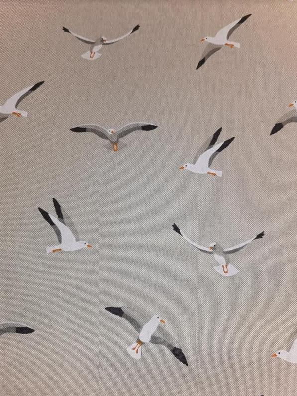 1804.650 Linen Look Seagulls (21B)