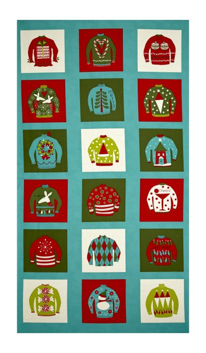 Christmas Sweater Quilt Panel