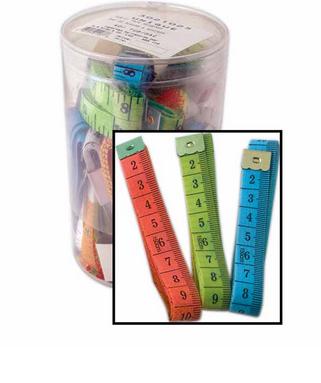 60/150cm Tape Measure- assorted colours