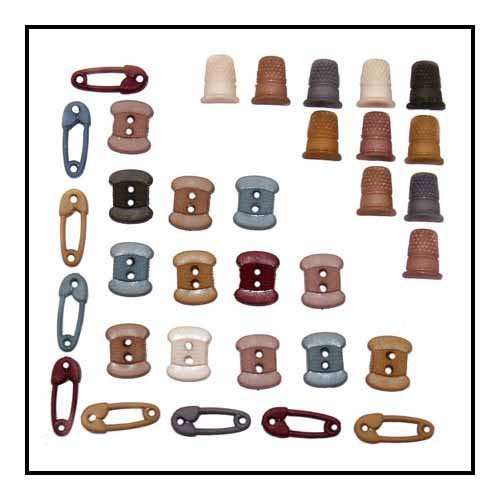 Tiny Sewing 18pc Button Pack