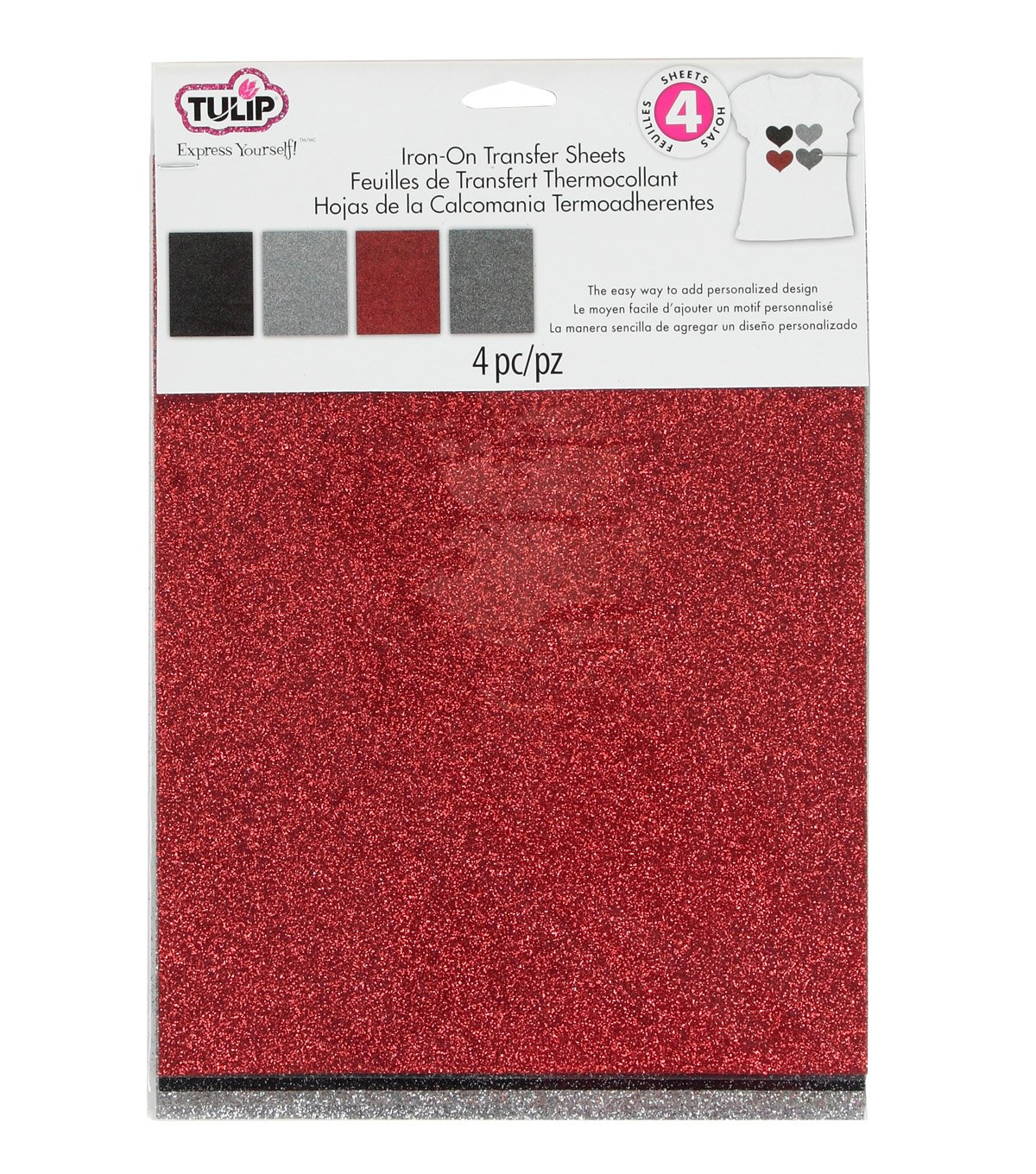 Iron On Transfer Sheets 8-1/2in x 11in Twilight Multi 4pk