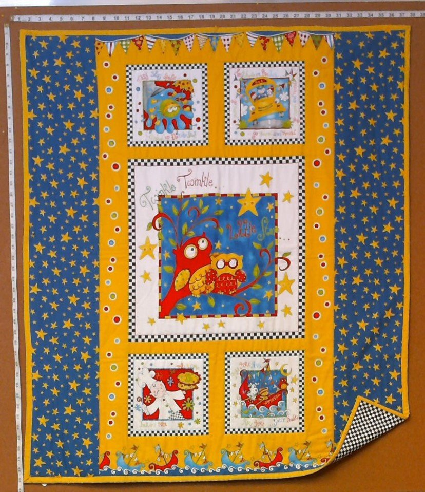 Twinkle, Twinkle Little Star Baby Quilt - Yellow