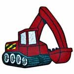 Red Digger Iron-on 73mm